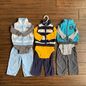 (3) 3 piece sets from Carters